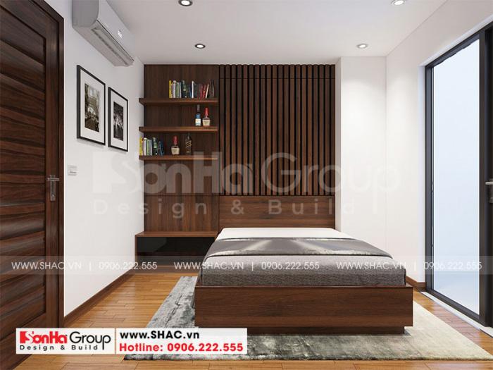 Không gian phòng ngủ nhỏ xinh cho căn hộ diện tích 100m2 tại Hà Nội