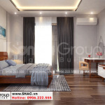 14 Nội thất phòng ngủ 4 biệt thự mái ngói kiểu hiện đại tại hải phòng sh btd 0075