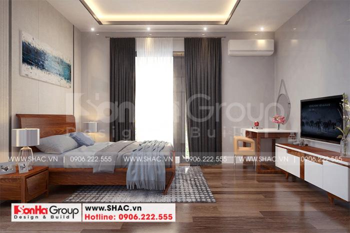 Mẫu phòng ngủ đẹp kiểu hiện đại dành cho nhà biệt thự 3 tầng sang trọng
