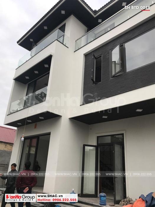 2 Ảnh thực tế biệt thự hiện đại 3 tầng tại hải phòng sh btd 0075