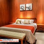 2 Kiểu giường ngủ gỗ tự nhiên đẹp