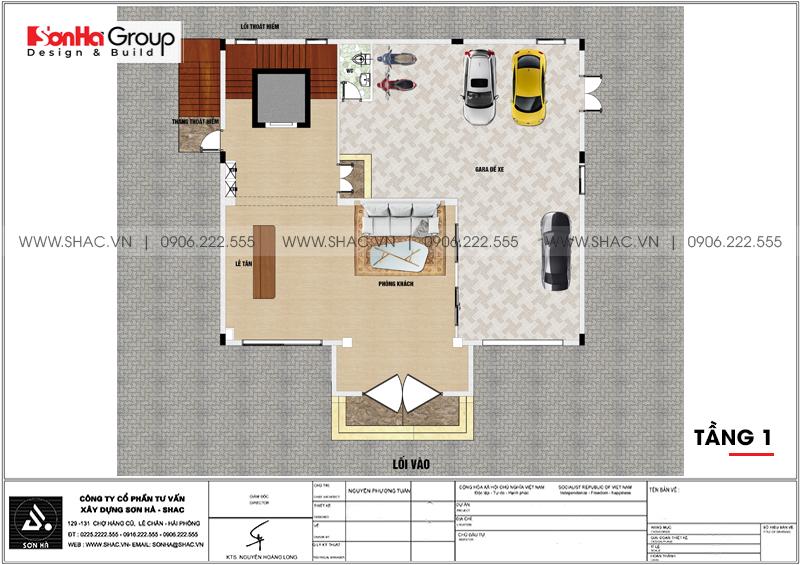 Thiết kế khách sạn mini 2 sao 6 tầng tân cổ điển tại Hải Phòng – SH KS 0067 2