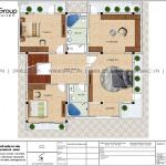 21 Bản vẽ tầng 2 biệt thự hiện đại đẹp tại hải phòng sh btd 0075