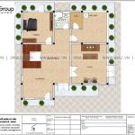 22 Mặt bằng tầng 3 biệt thự mái ngói kiểu hiện đại sh btd 0075