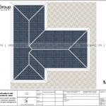 23 Bản vẽ tầng mái biệt thự 3 tầng phong cách hiện đại tại hải phòng sh btd 0075