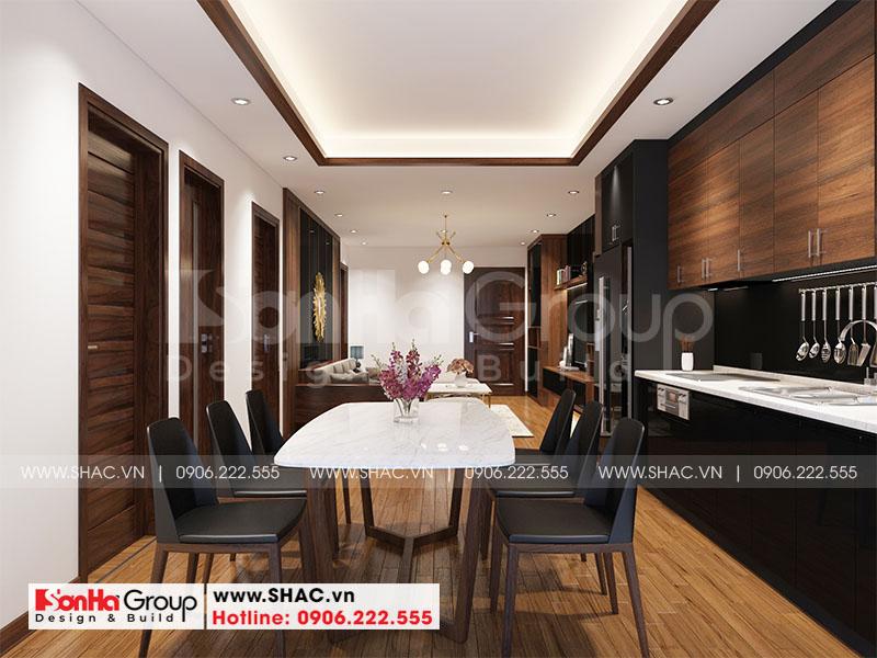 Thiết kế nội thất căn hộ chung cư 100m2 3 phòng ngủ hiện đại tại Hà Nội 3