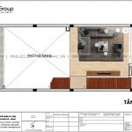 4 Bản vẽ tầng lửng nhà ống kiểu hiện đại tại hà nội sh nod 0202