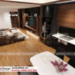 4 Không gian nội thất phòng khách bếp kiểu hiện đại căn hộ chung cư