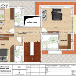 5 Bản vẽ tầng 2 biệt thự hiện đại mặt tiền 12m tại quảng ninh sh btd 0074