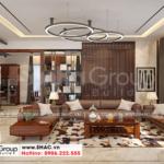 5 Thiết kế nội thất phòng khách biệt thự hiện đại đẹp tại hải phòng sh btd 0075