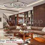 6 Mẫu nội thất phòng khách biệt thự mái thái kiểu hiện đại tại hải phòng sh btd 0075