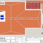 7 Bản vẽ tầng mái biệt thự mái hiện đại mái thái tại quảng ninh sh btd 0074