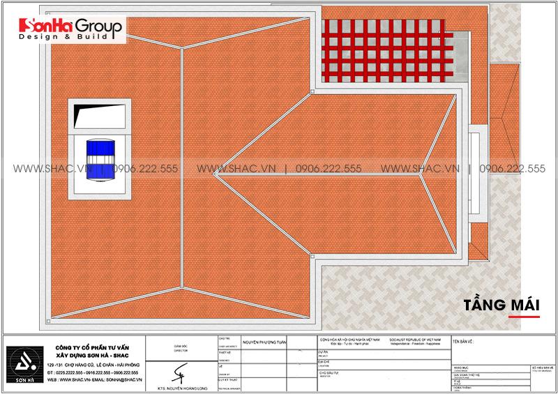 Mẫu biệt thự hiện đại mái thái 3 tầng diện tích 12x18m tại Quảng Ninh – SH BTD 0074 7