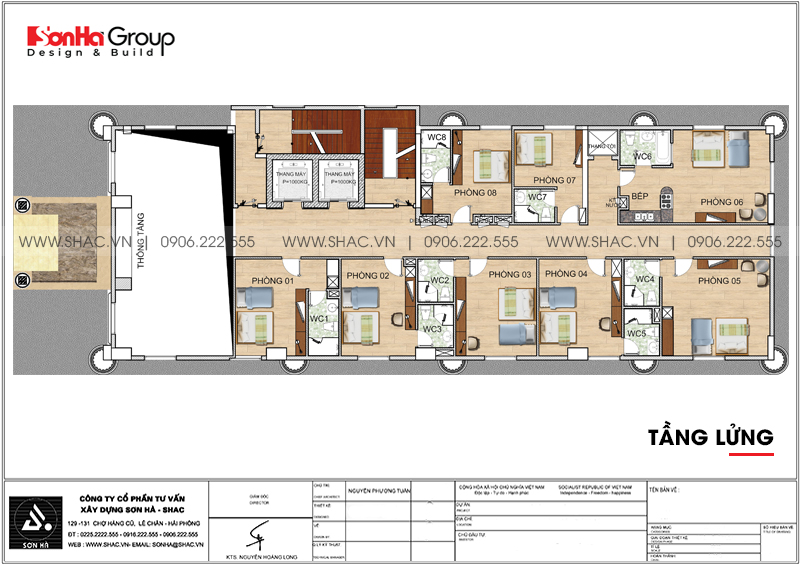 Thiết kế khách sạn 3 sao tân cổ điển 9 tầng tại Phú Quốc - SH KS 0068 4