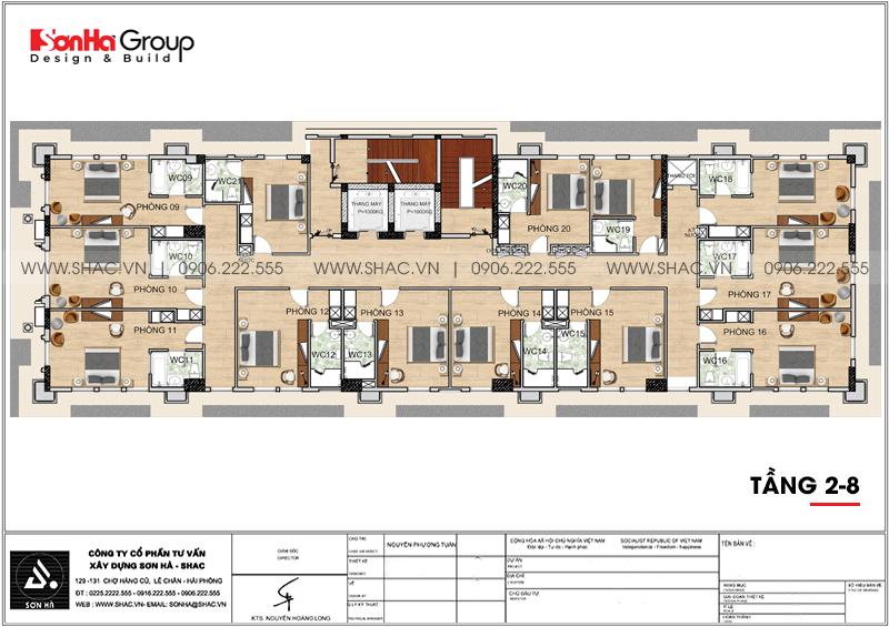 Thiết kế khách sạn 3 sao tân cổ điển 9 tầng tại Phú Quốc - SH KS 0068 5