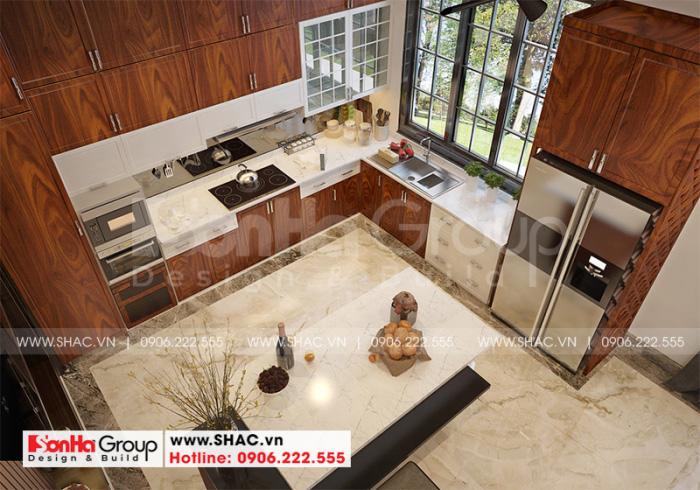 Cách bố trí nội thất phòng bếp ăn biệt thự hiện đại tại Hải Phòng được đánh giá cao