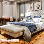 9 Bộ giường ngủ bọc da tân cổ điển đẹp