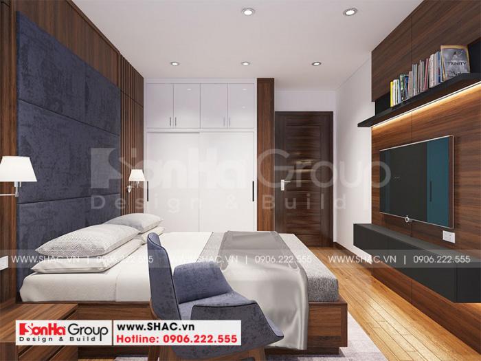 Mẫu phòng ngủ đẹp phong cách hiện đại thiết kế thông thoáng cho căn hộ