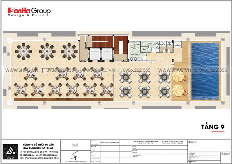 Thiết kế khách sạn 3 sao tân cổ điển 9 tầng tại Phú Quốc - SH KS 0068 6