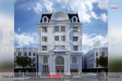 BÌA Thiết kế khách sạn mini tân cổ điển đẹp sh ks 0067