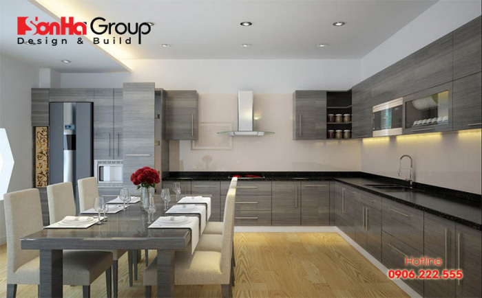 Có vị trí đặt bếp vuông vắn là điều thuận lợi về phong thủy nội thất cho gia chủ