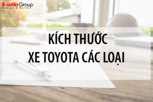 Kích thước xe Toyota các loại mới nhất [month]/[year] 12