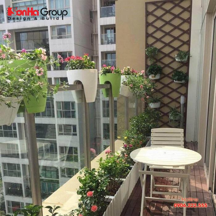 Phương án thiết kế ban công căn hộ chung cư phong cách hiện đại