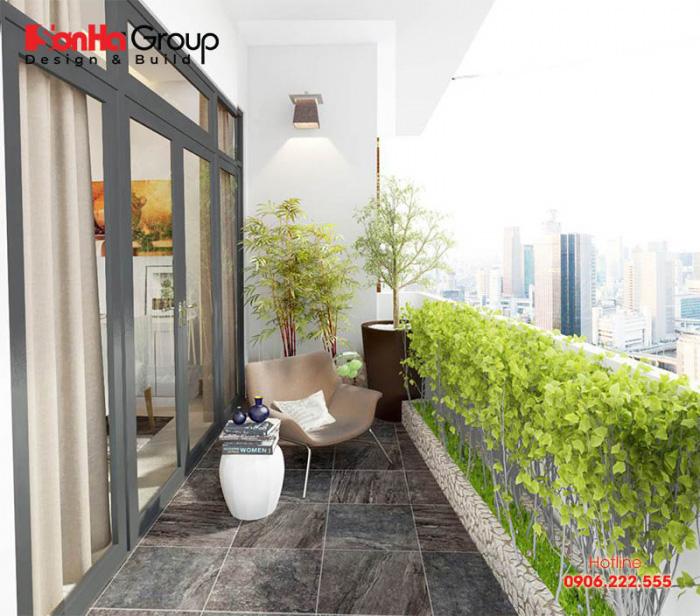 Phương án thiết kế lô gia đẹp cho căn hộ chung cư hiện đại sang trọng
