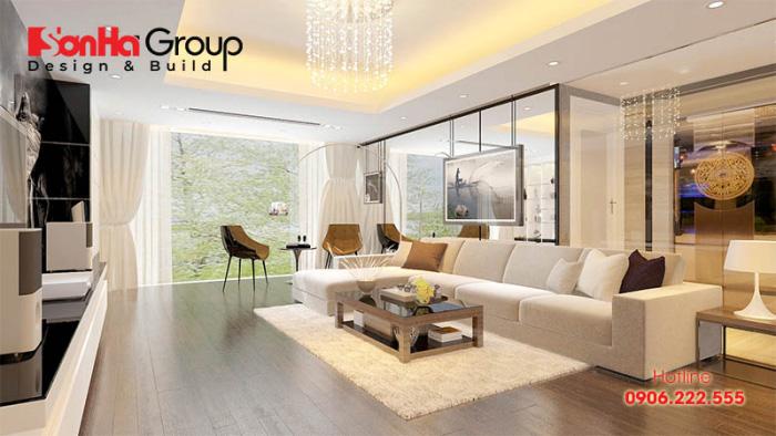 Thiết kế nội thất căn hộ phong cách hiện đại với gam màu đẹp và tươi trẻ