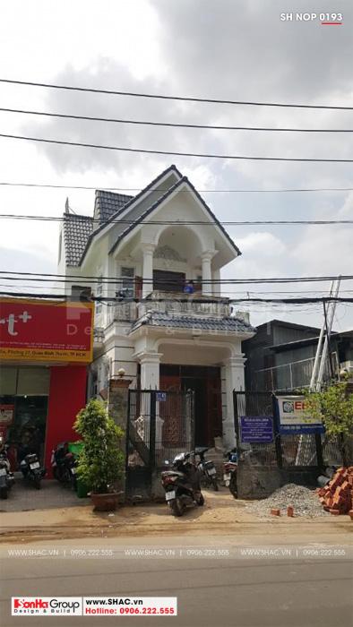 Thiết kế nhà ống 2 tầng điển hình của Sơn Hà Group