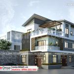 1 Thiết kế biệt thự hiện đại đẹp tại hà nam sh btd 0076