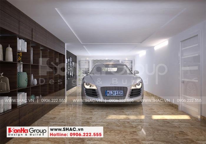 Thiết kế nội thất gara biệt thự hiện đại tại KĐT Waterfont City Hải Phòng