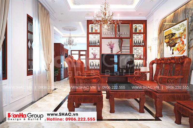 Mẫu nhà ống 2 tầng mái thái kiểu tân cổ điển diện tích 123,9m2 tại Sài Gòn – SH NOP 0193 7