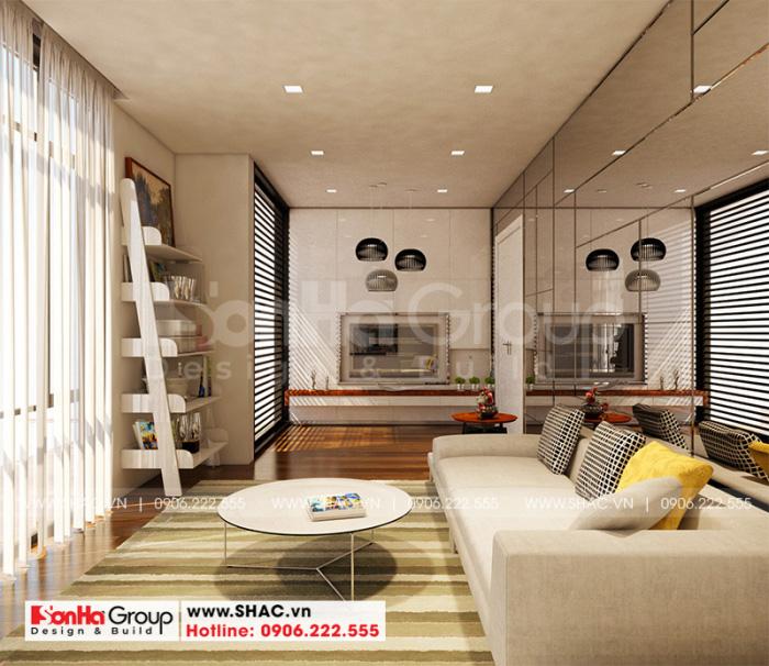 Cách bố trí không gian nội thất phòng sinh hoạt chung của biệt thự