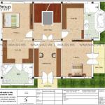 10 Mặt bằng tầng 3 biệt thự kiểu tân cổ điển tại hà nội sh btp 0142