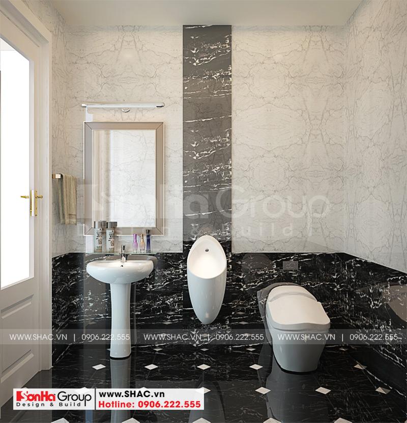 Thiết kế nội thất phòng tắm và vệ sinh với thiết bị cao cấp