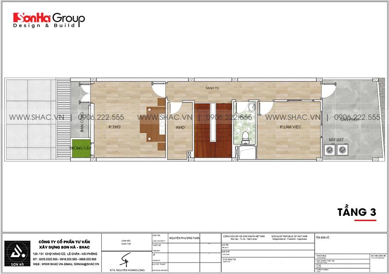 Mẫu thiết kế nhà ống đẹp 3 tầng hiện đại 5x15m tại Hải Phòng – SH NOD 0203 5