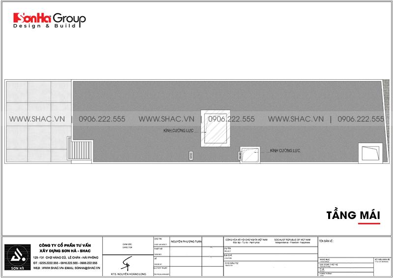 Mẫu thiết kế nhà ống đẹp 3 tầng hiện đại 5x15m tại Hải Phòng – SH NOD 0203 7
