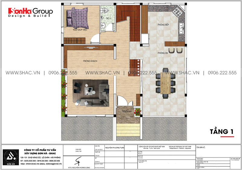Thiết kế nội thất biệt thự hiện đại có tầng hầm tại Waterfont City Hải Phòng 16