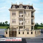 2 Mẫu biệt thự tân cổ điển Pháp 4 tầng tại hà nội sh btp 0142