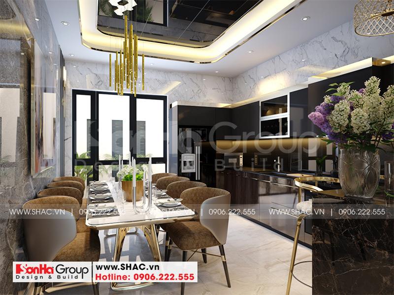 Thiết kế nội thất phòng khách tại Khu đô thị Waterfront City Hải Phòng của Sơn Hà Group