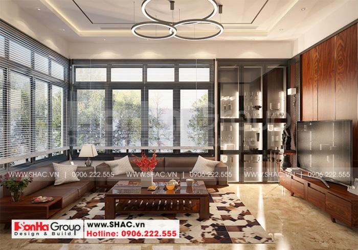 Không gian phòng khách đẹp và thoáng đãng với thiết kế khoa học hợp lý