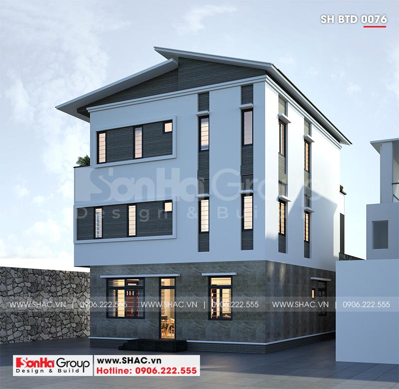 Biệt thự hiện đại 3 tầng mái thái diện tích 9,2x11,7m tại Hà Nam – SH BTD 0076 3
