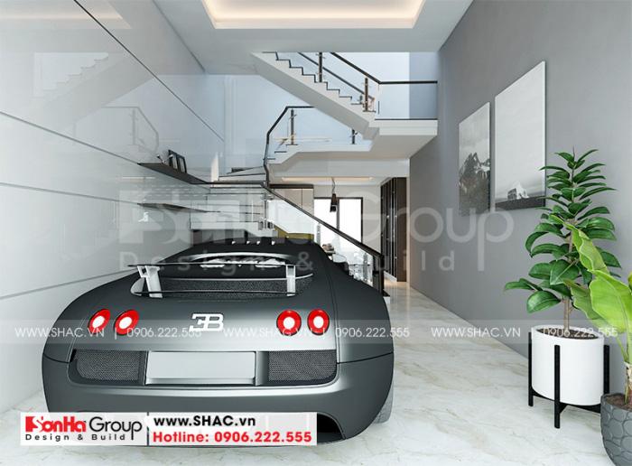 Thiết kế nội thất gara ô tô phong cách hiện đại cho nhà phố 5 tầng