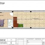 4 Mặt bằng tầng 1 nhà ống phong cách tân cổ điển đẹp tại hà nội sh nop 0192