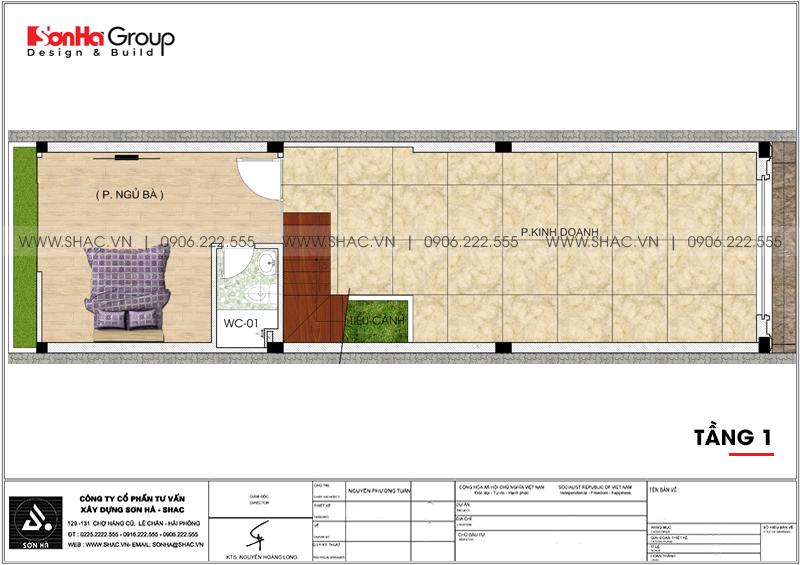 Thiết kế nhà ống tân cổ điển 5 tầng kết hợp kinh doanh tại Hà Nội – SH NOP 0192 4