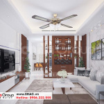 4 Thiết kế nội thất phòng khách kiểu hiện đại tại hải phòng sh nod 0203