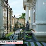 4 Thiết kế sân vườn biệt thự kiểu tân cổ điển mặt tiền 10m tại hà nội sh btp 0142