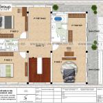 5 Bản vẽ tầng 2 biệt thự kiểu hiện đại đẹp tại hà nam sh btd 0076