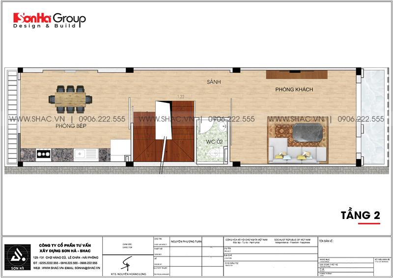Thiết kế nhà ống tân cổ điển 5 tầng kết hợp kinh doanh tại Hà Nội – SH NOP 0192 5